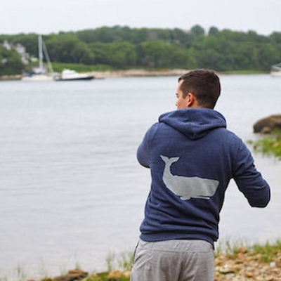 Whale Print - Eco-Friendly Heavy Weight Zip Sweatshirt